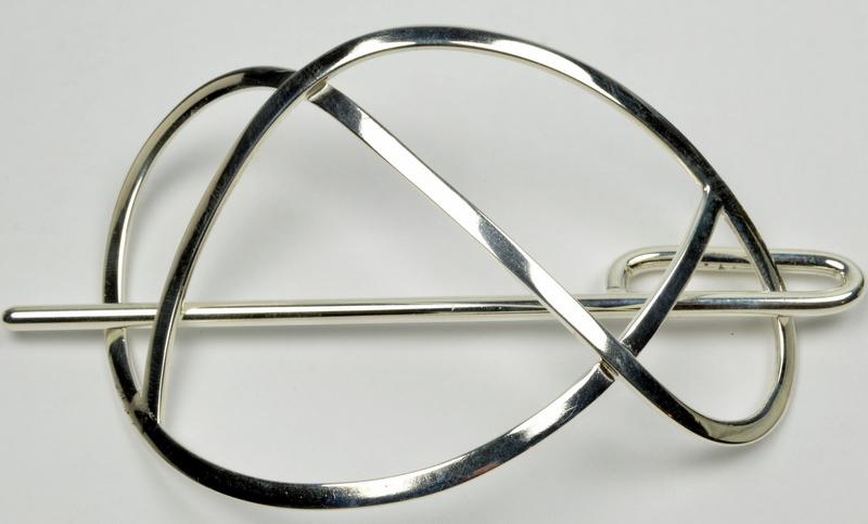 hårspænde i sølv